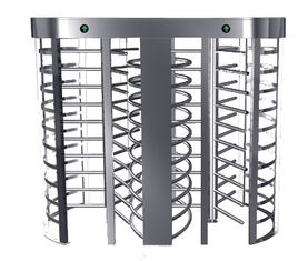 China Automatic Electric Full Height Turnstile Entrance Gate With Stainless Steel Tube factory
