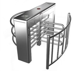 China Stainless Steel Biometric Full Height Turnstile With LED Display For Apartment factory