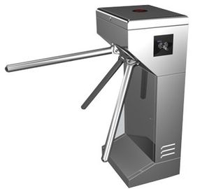 Vertical Stainless Steel Tripod Turnstile Gate For Park or Airport