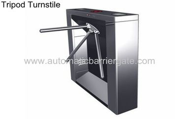 Digital Magnetic Card Stainless Steel Tripod Turnstile , Subway Entrance Barrier