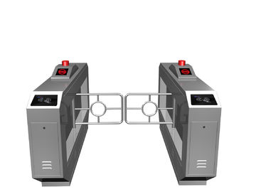 China Magnetic Card One-way Direction Self-checking Automatic Swing Gate Barrier RS485 AC220V factory