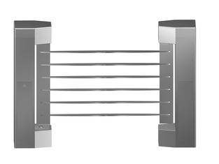 China Indoor 180 Angle Two-way Direction Manual Swing Gate with 304# Stainless Steel Plate factory