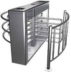 China 0.2s RS485 Stainless Steel Tube Automatic Rotation Full Height Turnstile For Subway factory