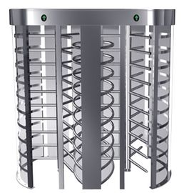 China Indoor One-way Direction Full Height Turnstile with Stainless Steel Tube for Bus Station factory
