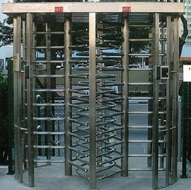 30 Persons / Min Stainless Full Height Turnstile with Sound and Light Alarm for Museum