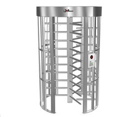 China 0.2S Electric Security Stainless Steel Full Height Turnstile with Light Alarm RS485 factory