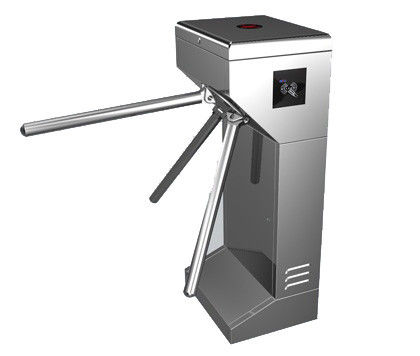 Time Attendance / Tolling 0.2S Stainless Steel ID Card Tripod Turnstile Gate for Musem supplier