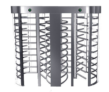 Automatic Electric Full Height Turnstile Entrance Gate With Stainless Steel Tube supplier