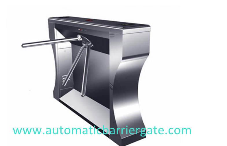 Single / Dual Direction Remote Control Stainless Tripod Turnstile For Supermarket supplier