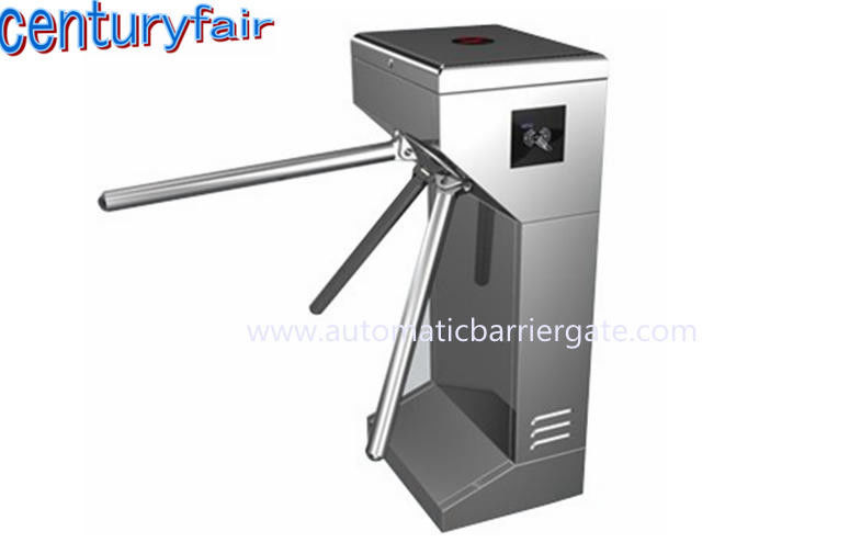ID Card LED Double Direction Prompt Vertical Tripod Turnstile Gate for Supermarket supplier
