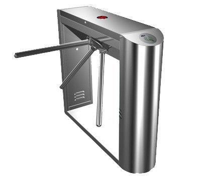 Dual Direction Barcode Stainless Steel Tripod Turnstile Gate for Museum, Library, 0.2s supplier