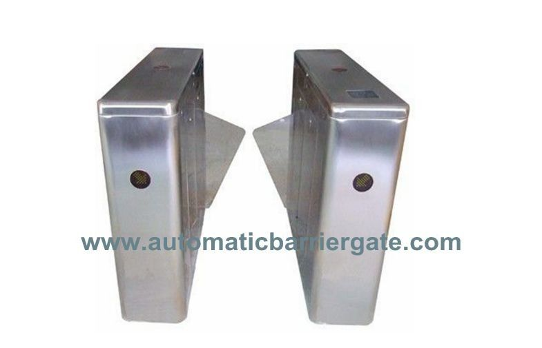 IC ID Card Dual Way Stainless Steel Retractable Flap Barrier for Bus Station RS485 supplier