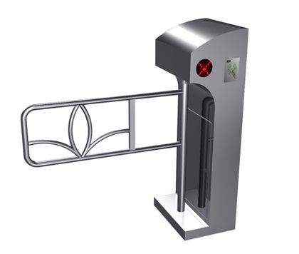 One-way Direction Digital LED Prompt Vertical Barrier Automatic Swing Gate for Supermarket