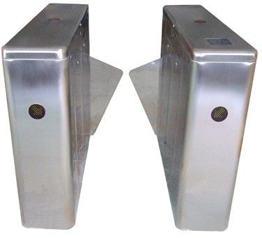 ID Card High Capability Dual Way Stainless Retractable Flap Barrier for Bus Station RS485 supplier