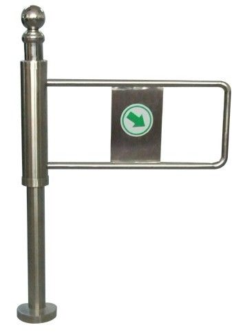 Indoor 90 Angle One-way Direction Auto Reset Economic Manual Swing Gate for Subway supplier