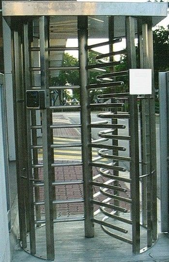 30 Persons / Min Full Height Turnstile with Sound Alarm Stainless Steel Tube for Airport supplier