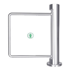 China Indoor 90 Angle Single Directional Stainless Manual Swing Gate Barrier for Exhibition distributor