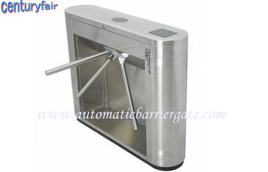 China Stainless Steel Tripod Turnstile Gates For Supermarket Time Attendance distributor