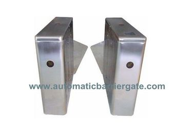 China IC ID Card Dual Way Stainless Steel Retractable Flap Barrier for Bus Station RS485 distributor
