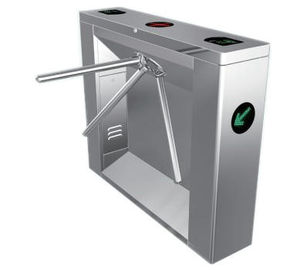 0.2s RS485 ID Card Versatile 304# Stainless Steel Tripod Turnstile Gate for Airport